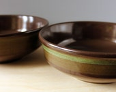 Franciscan Madeira 7 inch round vegetable bowls, 1970s stoneware.