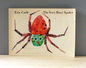 RESERVED for STELLA  The Very Busy Spider. Eric Carle. Vintage childrens book, 1980s paperback first edition.