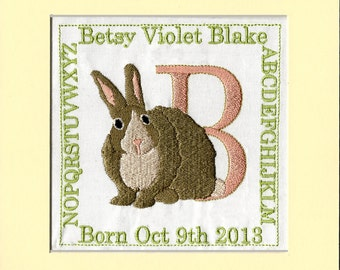 PERSONALIZED BABY KEEPSAKE   Matted and Ready to Frame,or Ready Framed