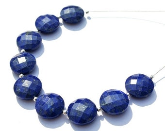55% OFF SALE 10Pcs 14mm AAA Genuine Lapis lazuli Faceted Coin Briolettes Lapis Coin Beads 10Pcs 5 Matched Pair