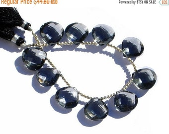 55% OFF SALE 1/2 Strand -  15x15mm AAA Gray Quartz Faceted Checker Cut Heart Briolettes 5 Pcs 2 Matched Pairs n a Focal Pendant