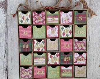 Advent calendar, Christmas Calendar, 25 Days of Christmas, Countdown, Gingerbread House, Christmas Treat Box, Christmas Countdown