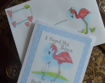 Flamingo Father's Day Card
