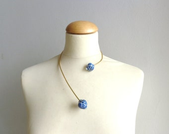 Brass wire choker necklace minimal necklace