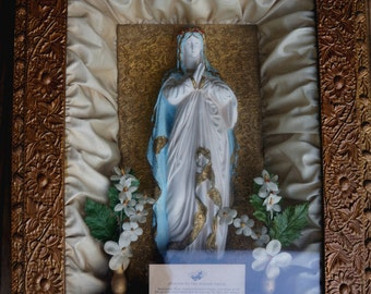 Beautiful Antique Church Shrine with Mary