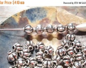50% Off 25 pcs Antique Gold Round Fluted Lantern Beads, 6x5mm with a 2mm hole, MB1070 AF16