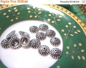 50% Off Sale 20 pcs Bead Caps in Antique Silver with a domed top 5x11mm - Kumihimo Supplies BC 049