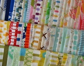 Vintage Sheets 12 Twelve Inch Squares Ultimate Mountain Rainbow Pack 87 squares