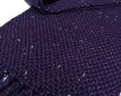 purple sparkle: handwoven scarf