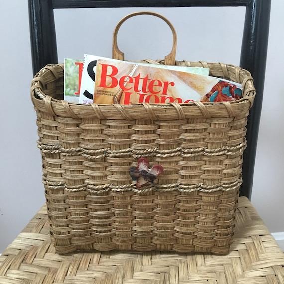 Basket Weaving Kits : Basket weaving kit hanging magazine mail