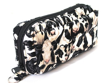 Essential Oil Case Holds 10 Bottles Essential Oil Bag Black and White Cows