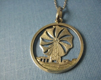 Sterling silver Windmill charm on chain