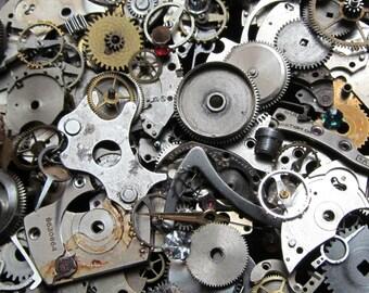 1 oz 28 grams Vintage Watch movements parts cogs gears Steampunk Z 34