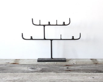 Iron Forged Metal Scandinavian Candle Holder Candelabra