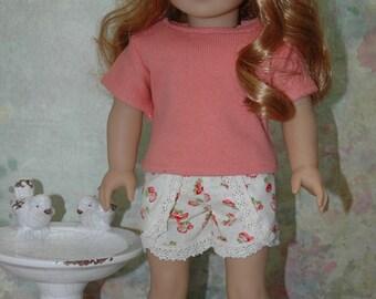 18 inch doll clothes, tee shirt, shirt, shorts