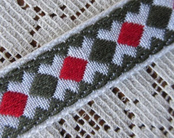 3 Yards Woven Folkloric Costume Traditional Geometric Jacquard Trim  VT 21