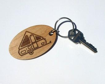Pop Up A-Frame Camper Key Fob, A-Frame Travel Trailer, Aliner Travel Trailer, A-liner Pop Up Camper, Camper Key Chain, Pop Up Travel Trailer