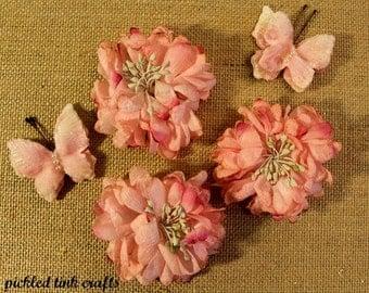 PRICE REDUCED!! Petaloo Mums & Butterflies in Pink