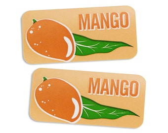Mango Bakery Labels - stickers for packaging cookies, cake, muffins, treats, and baked goods
