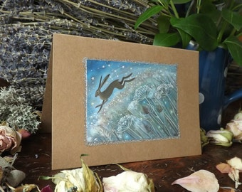Lepus. Greeting Card with Envelope