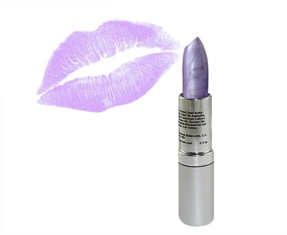 Lipstick - Lilac Shimmer is Vegan handmade Mineral Makeup Zosimos Botanicals closeout