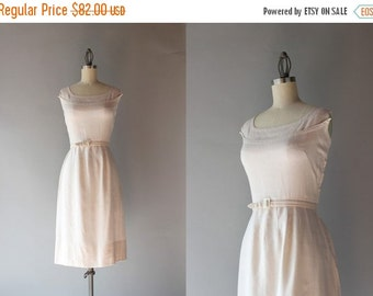 STOREWIDE SALE 1950s Linen Dress / Vintage 50s Dress / Fifties Natural Linen Wiggle Dress