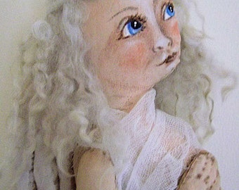 Angelic Painted Cloth Primitive Folk Art Angel Doll Instant Download PDF EPattern Sewing and Painting