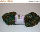 On Sale Green Merino/Silk Handspun Yarn 100g/102yds