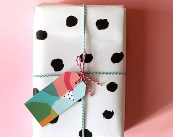 Bundle of Dotty Wrapping Paper x 10 sheets! Great Price!