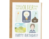 Things That Are Older Than You Illustrated Card//1canoe2
