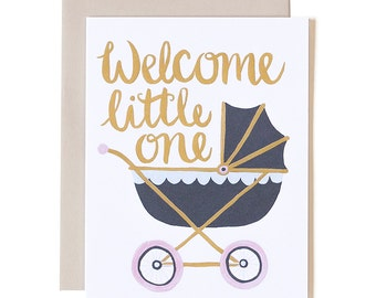 Welcome Little One Illustrated Card // 1canoe2