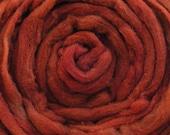 200g Acid Dyed Oatmeal Merino D'Arles Wool Top -  Chestnut