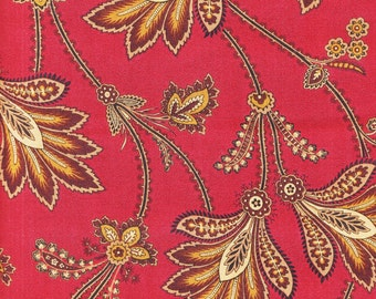 Andover Fabrics Jo's Best Friend 4183 R Large Floral Design on Red by the yard