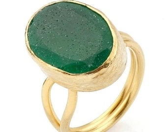 15% Discount Green Oval Jade Ring