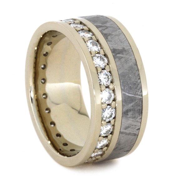 moissanite eternity wedding band s 14k by jewelrybyjohan