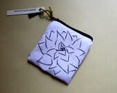 Leaves look like Flowers (Zipper Pouch - Sanitary Pouch - Maxi Pad Bag - Coin Purse - Cosmetic Pouch - Accessory Bag - Masking Tape Pouch)