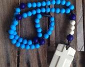 Sky Blue & Navy Chews Life Soft Rosary