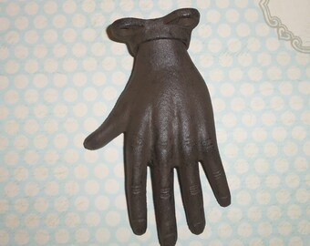 Cast Iron Hand Fingers Figurine Jewelry Holder or Wall Hook