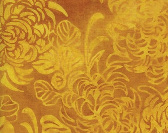 NEW - One fat quarter - Yellow Mums Batik - 121412229