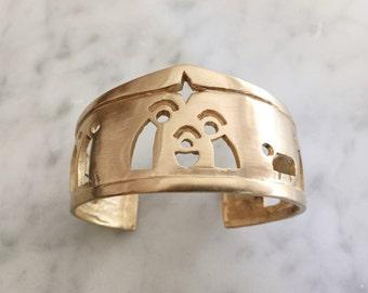 CHRISTMAS NATIVITY SCENE cuff bracelet