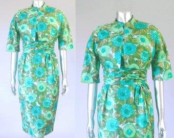 vintage 1950s dress suit | vintage 1950s floral dress | vintage floral dress
