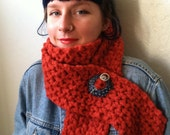 Hand Knit Scarf Very Soft