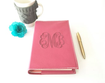 Monogrammed Bible Cover - Custom Sized to fit your bible, any size