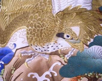 Vintage kimono S214, children's kimono, oshogatsu, shichigosan,silk,haori, japanese kimono, silk kimono