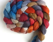 Merino/ Superwash Merino/ Silk Roving (Top) - Handpainted Spinning or Felting Fiber, Banner Day
