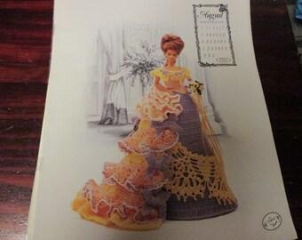 Barbie Crocheting Patterns Fashion Doll Miss August 1993 Calendar Dolls Collection Annie Potter Presents Crochet Pattern Leaflet