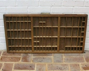 Antique Vintage Printers Wooden Tray Antique Vintage Printers Drawer Shadow Box Letterpress Tray 89 Sections