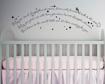 Dragonflies and Stars Fairies, Moon, Loved Wall Art in Words Vinyl lettering Decals Stickers