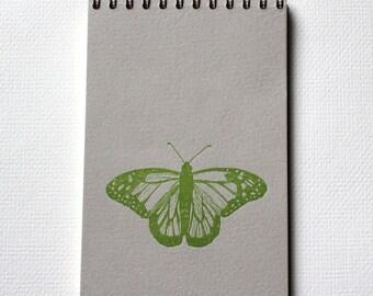 Butterfly Notebook - Letterpress Spiral Bound Notebooks