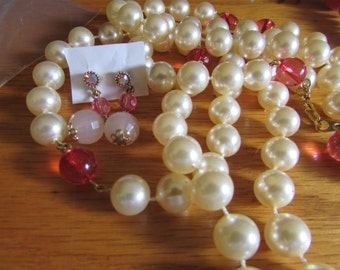 pearls with pink touch